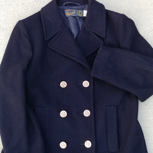 3a56851a3 Mens Vintage Gloverall Reefer Peacoat Gold Anchor